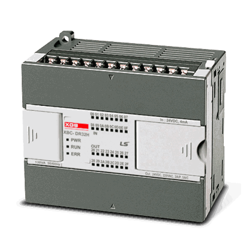 LS ELECTRIC (XEC) - 16x DI, 16x DQ(R), HSC, Comms RS232 & RS-485, PLC