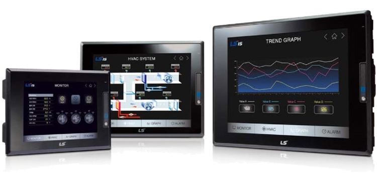 "LS ELECTRIC (iXP2) - 12.1"" Touch Screen Capacitive, Comms 2x Ethernet, RS-232 & RS-485, EX-cert., HMI"
